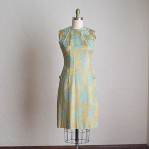 Vintage 60's Silk Brocade Cocktail Dress